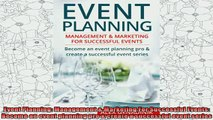 best book  Event Planning Management  Marketing For Successful Events Become an event planning pro