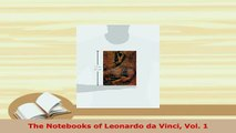 PDF  The Notebooks of Leonardo da Vinci Vol 1 PDF Full Ebook