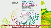 read here  Practical Program Evaluation TheoryDriven Evaluation and the Integrated Evaluation