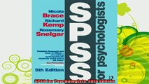 best book  SPSS for Psychologists Fifth Edition