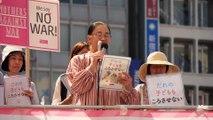 2016.05.05 絵本作家 はまだけいこさん『誰の子供も殺させない』(安保関連法に反対するママの会)新宿ジャック