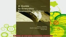 best book  A Guide to Everyday Economic Statistics
