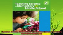 best book  Teaching Science in Elementary and Middle School A Cognitive and Cultural Approach