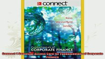 free pdf   Connect 1 Semester Access Card for Fundamentals of Corporate Finance