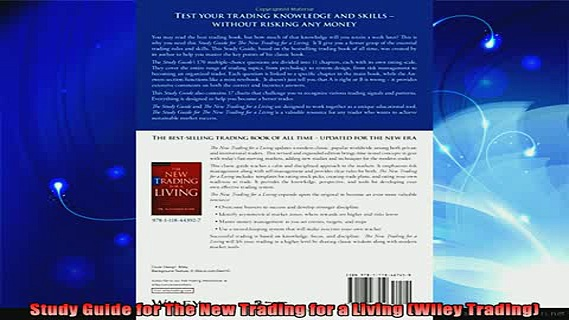 new book  Study Guide for The New Trading for a Living Wiley Trading