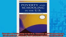 READ book  Poverty and Schooling in the US Contexts and Consequences Sociocultural Political and Full Free