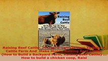 PDF  Raising Beef Cattle 20 Useful Tips On How To Start A Cattle Farm And  Make Money Raising Ebook