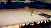Competición local gimnasia rítmica Getafe 2016. Cristina, categoría infantil