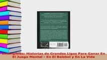 PDF  Intangibles Historias de Grandes Ligas Para Ganar En El Juego Mental  En El Beisbol y En Download Online