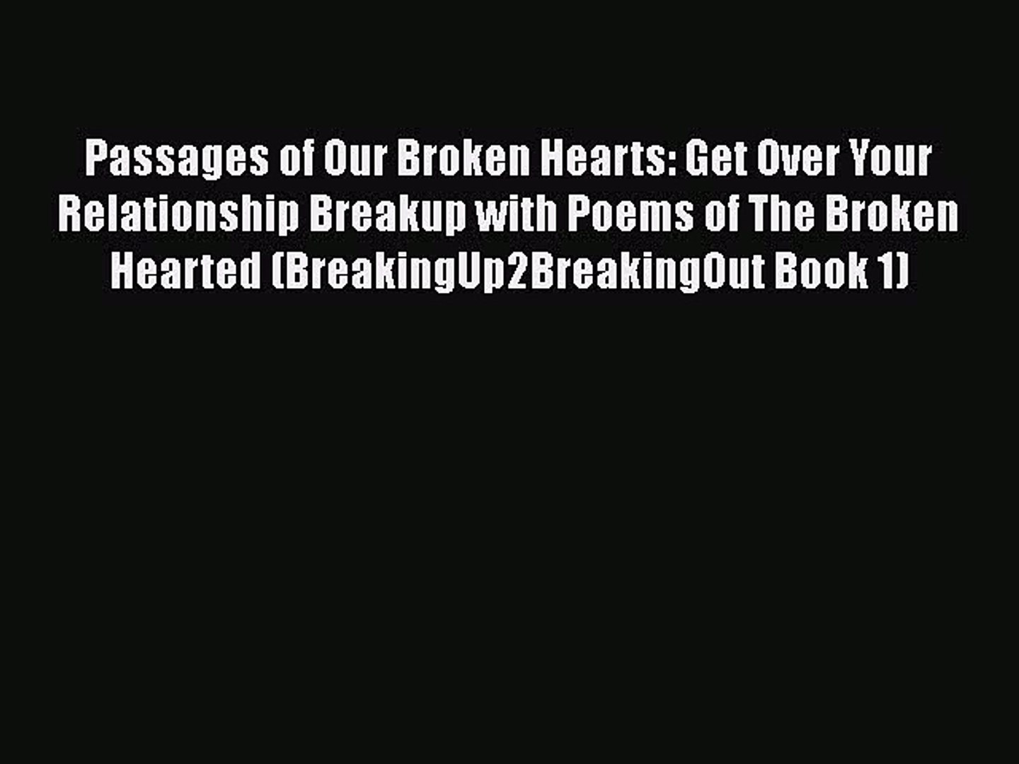 Poems About Breakup 1