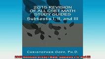 Free Full PDF Downlaod  2015 Revision of CSET Math Subtests I II and III Full Free