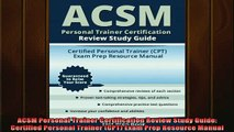 READ book  ACSM Personal Trainer Certification Review Study Guide Certified Personal Trainer CPT Full Ebook Online Free