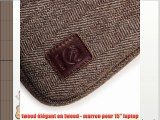 Étui housse protective en Tweed à chevrons (Laptops Macbook Air Pro Retina  Dell Inspiron