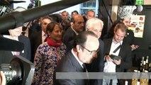 François Hollande inaugure la halle bio de Rungis