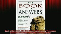 READ book  Book of Answers The New York Public Library Telephone Reference Services Most Unusual Full EBook