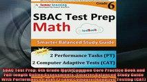 Free PDF Downlaod SBAC Test Prep 6th Grade Math Common Core Practice