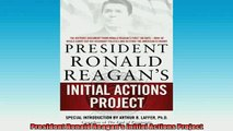 READ THE NEW BOOK   President Ronald Reagans Initial Actions Project  FREE BOOOK ONLINE