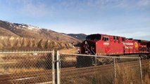 CP Intermodal/Mixed Freight Westbound @ Kamloops 12/31/10 CP AC4400CW 8650 leading (I-Pod 4)