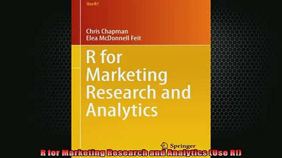 FREE PDF DOWNLOAD   R for Marketing Research and Analytics Use R  BOOK ONLINE