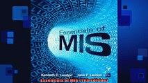 READ FREE Ebooks  Essentials of MIS 11th Edition Full EBook