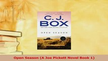 Download  Open Season A Joe Pickett Novel Book 1  EBook