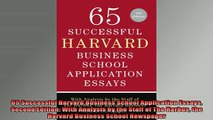 DOWNLOAD FREE Ebooks  65 Successful Harvard Business School Application Essays Second Edition With Analysis by Full EBook