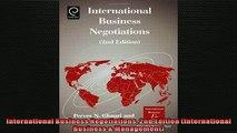 Free PDF Downlaod  International Business Negotiations 2ndEdition International Business  Management  DOWNLOAD ONLINE