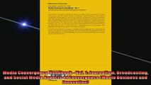 FREE PDF  Media Convergence Handbook  Vol 1 Journalism Broadcasting and Social Media Aspects of  DOWNLOAD ONLINE
