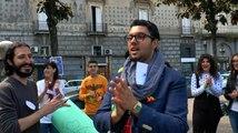 Aversa (CE) - Patatrac progetto di scambio giovanile in  piazza Vittorio Emanuele (03.05.16)