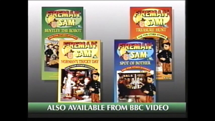 Start and End of The New Adventures of Fireman Sam VHS (Monday 3rd October 1994) | Godialy.com