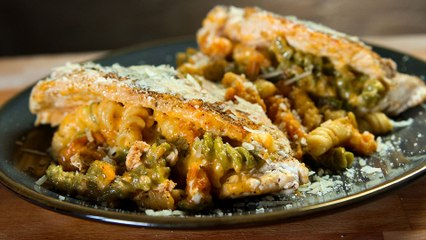 Mac & Cheese Stuffed Chicken, A Meat-and-Carb-Wich