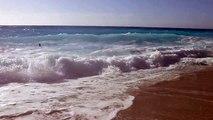 Lefkada - Kathisma Beach cu valuri 1 - Lefkada 31 aug 2013