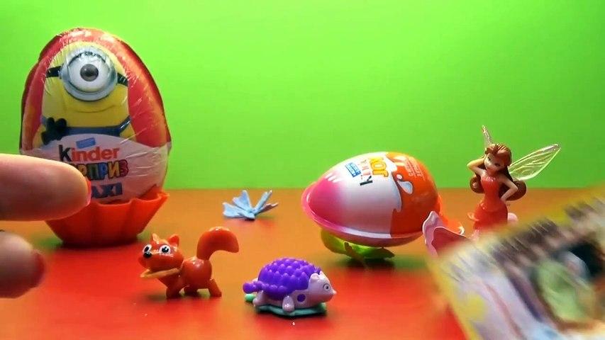 Minion WINX Hello Kitty Kinder Surprise eggs unboxing toys Киндер сюрприз яйца игрушки