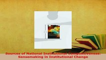 PDF  Sources of National Institutional Competitiveness Sensemaking in Institutional Change Download Full Ebook