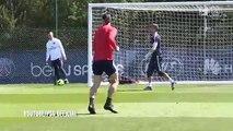 Zlatan Ibrahimovic scores the most Zlatan Ibrahimovic goal ever in PSG training.