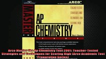 READ book  Arco Master the Ap Chemistry Test 2001 TeacherTested Strategies and Techniques for Online Free