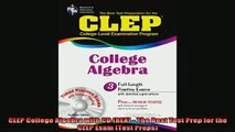 READ FREE FULL EBOOK DOWNLOAD  CLEP College Algebra with CD REA  The Best Test Prep for the CLEP Exam Test Preps Full Free