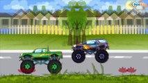 Car Cartoons. Monster Truck Racing Сhampionship. Monster Trucks Race. Emergency
