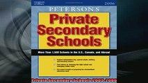 READ book  Private Secondary Schools 20052006 Full EBook