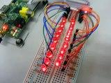 Raspberry PiのGPIOポートで17個のLEDを光らせる
