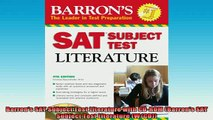 DOWNLOAD FREE Ebooks  Barrons SAT Subject Test Literature with CDROM Barrons SAT Subject Test Literature Full Free