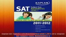 READ book  Kaplan SAT Subject Test Mathematics Level 1 20112012 Kaplan SAT Subject Tests Full Free
