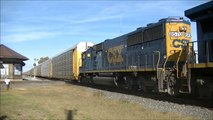 CSX South Bound Auto Rack Train Deshler Ohio 9/28/13