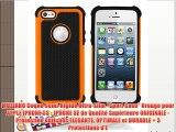 MUZZANO Coque Semi-Rigide Ultra-Slim Sport Case Orange pour APPLE IPHONE 5S - IPHONE SE de