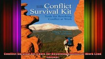 read here  Conflict Survival Kit Tools for Resolving Conflict at Work 2nd Edition