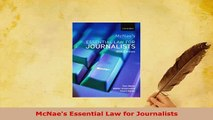 Download  McNaes Essential Law for Journalists Free Books