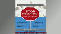READ book  Stop Presenting Start Succeeding Online Free