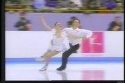 Stekolnikova & Karzaliga (KAZ) - 1994 Lillehammer, Ice Dancing, Compulsory Dance No. 1