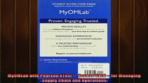 READ book  MyOMLab with Pearson eText   Access Card  for Managing Supply Chain and Operations Full EBook