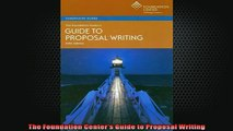 READ book  The Foundation Centers Guide to Proposal Writing Full Free